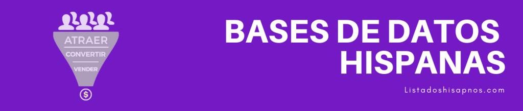 Comprar Base de Datos de Hispanos-Bases de datos Estados Unidos